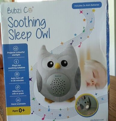 Bubzi C🙂 Soothing Sleep Owl - includes 3 AAA batteries