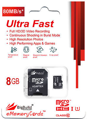 16GB MicroSD Memory card for Kaiser Baas X3 X4 action cameraClass 10 80MB//s