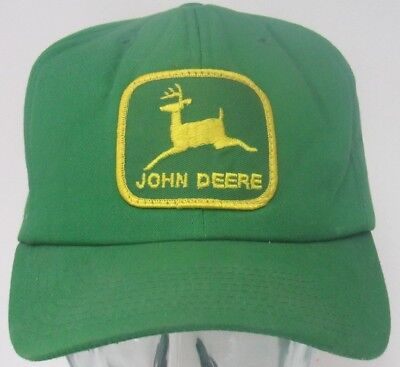 John Deere Vintage patch snap back hat Green Yellow Tractor Louisville promotion