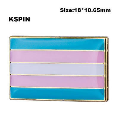Transgender Pride Flag Enamel Pin Badge