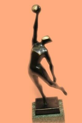 Abstract Modern Art Basketball Players Bronze Sculpture Statue Signed Original