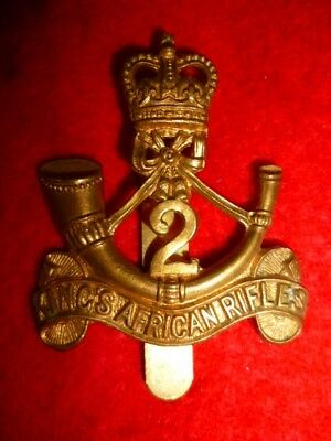 2nd King's African Rifles  QC Cap Badge, British Colonial, Post 1953, Firmin