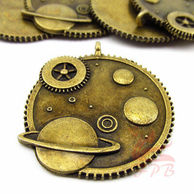 Doctor Who Gears And Planets Charm 40mm Antiqued Bronze Pendant BC0071925