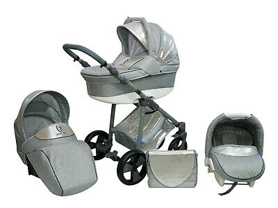 Baby Stroller Pram Complete Travel System Pushchair 3in1 Carrycot Buggy Car seat