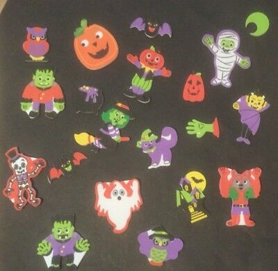 20 Halloween / Self Adhesive Foam Shapes / Stickers / Embellishments