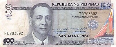 Philippines  100  Piso  1999  Series  FD  Circulated Banknote SD718