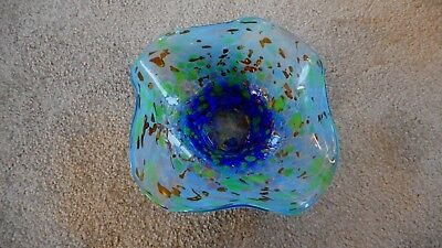 Vintage French Art Glass Bowl By Jean Michel Operto