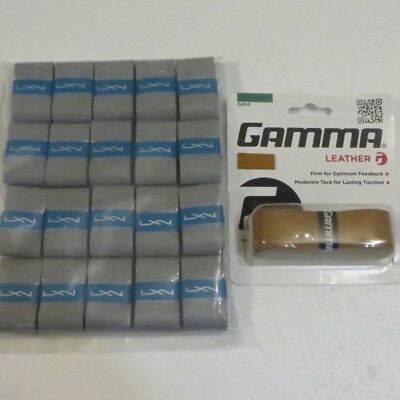1 Gamma Leather Replacement Grip + 20 Luxilon Elite Dry Overgrip
