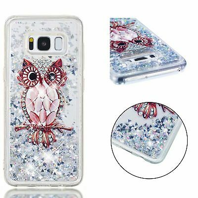 Brown shell Owl Dynamic Quicksand Glitter Liquid Float TPU Case Cover for Phones