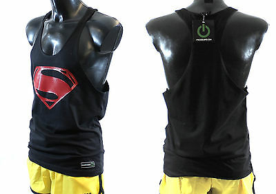New Superman Stringer/Racerback Bodybuilding Muscle Gym Workout Top Sexy Vest