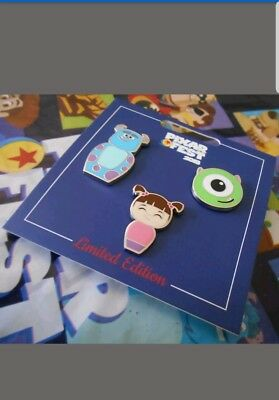 Disneyland Pixar Fest 2018 Monsters Inc Pin Set Limited Release - SOLD OUT