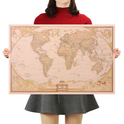 Mappa del Mondo National Geographic 72 x 47 cm * Carta Kraft high quality retro