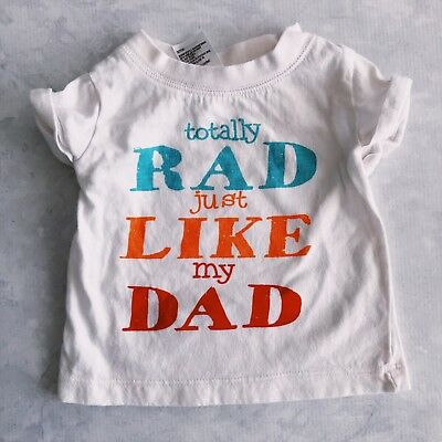Rad Like Dad UNISEX Shirt for Size 000 (0-3m) Great Condition, USED Colourful