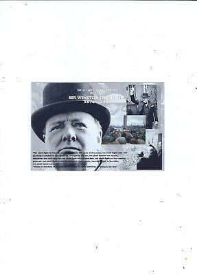 POLITICAL POSTCARD   2015  50th ANNIVERSARY DEATH OF WINSTON CHURCHILL