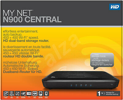 WD My Cloud My Net N900 Central 1TB Storage Dual Band Gigabit Router USB Sealed