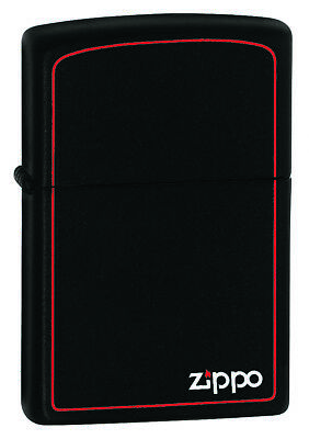 New ZIPPO Lighter Black Matte with Print and Border Free Shipping 100% Genuine