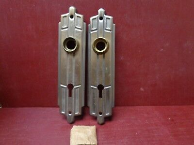 2 Nos Vintage Art Deco Door Knob Plates With Original Screws More Avail #2
