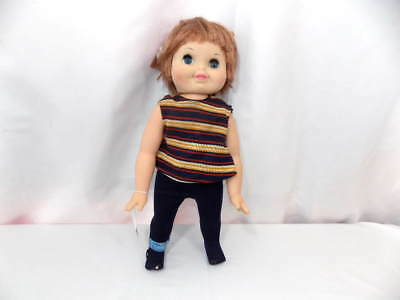 Vintage 1968 Remco Tippy Tumbles Doll - No Battery Pack - Original Clothes