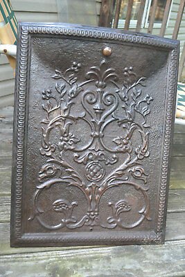 Antique Vtg metal ornate Fireplace Summer Cover architectural Victorian