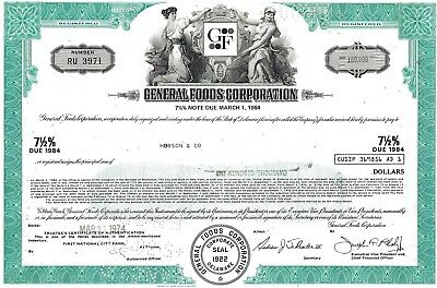 General Foods Corporation 1974, 7 1/2% Note due 1984 (100.000 $)