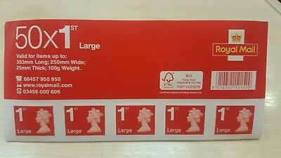 150 × 1st Class Large Letter Royal Mail Postage Stamps Book Easy Peel And Stick