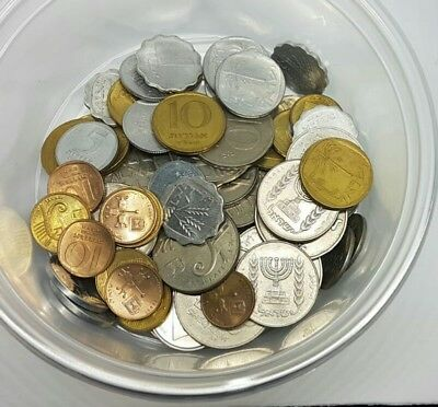 Lot Of 65 Mixse Old Israel Coins Israeli Coin Private Collection