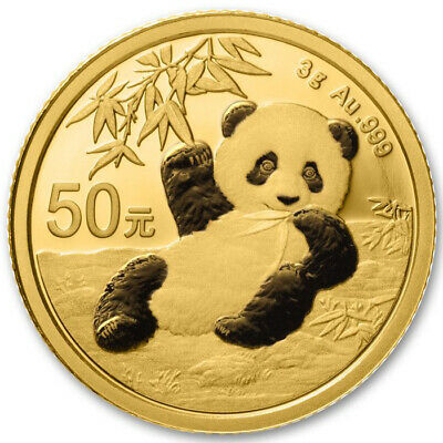 Chine 50 yuan Panda or 3 grammes 2019 China 3 grams Gold coin BU Sealed