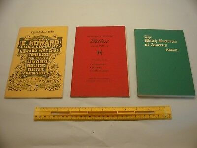 Book 415 – Lot of 3 watch and clock books