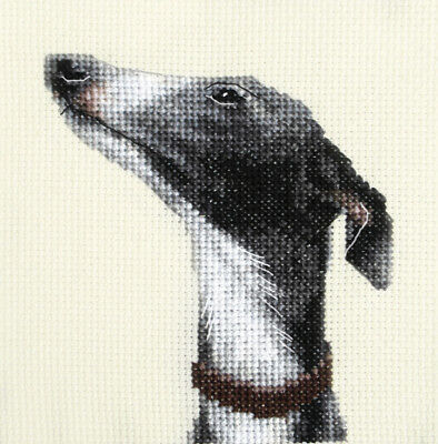 WHIPPET ~ Puppy, Dog, Exclusive Full counted cross stitch kit + all materials