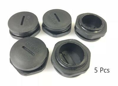 M12,M16,M20,M25,M32 CABLE GLAND Screw End Cap Cover With Nut & Washer Black  IP68