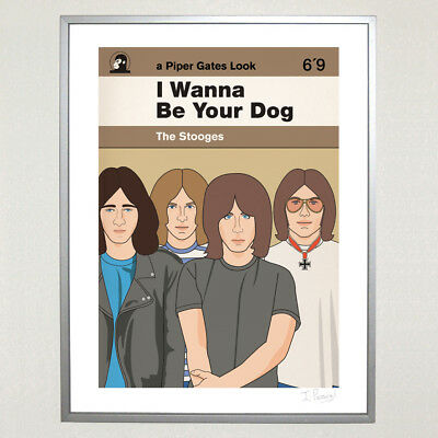 Iggy & The Stooges I Wanna Be Your Dog Ltd Ed 30cm x 40cm Print Punk Iggy Pop