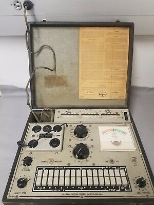 JACKSON 648S Dynamic Tube Tester - power tested - working roll chart!