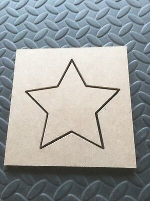 Star Router Template 6mm MDF Star Size 150mm X 150mm not Trend