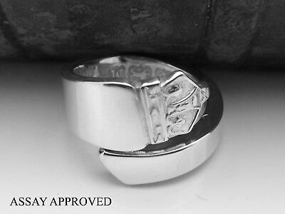 King George Vi Assay Approved Solid Sterling Silver Spoon Ring -  Size M