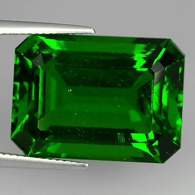 21.62 Ct Beautiful Chrome Green Aaa Natural Moldavite Octagon Cut Loose Gemstone