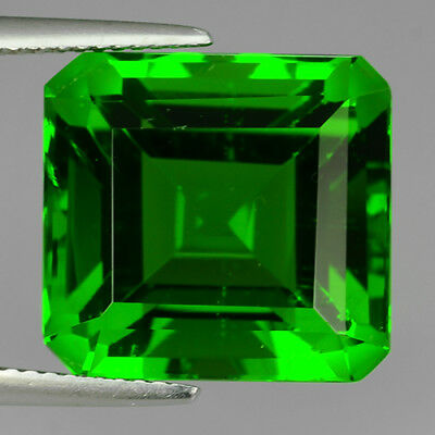 15.58 Ct Beautiful Chrome Green Aaa Natural Moldavite Square Cut Loose Gemstone