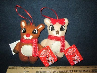 """Rudolph the Red Nosed Reindeer & Clarice Island of Misfit Toys 5"""" Plush Ornament"""