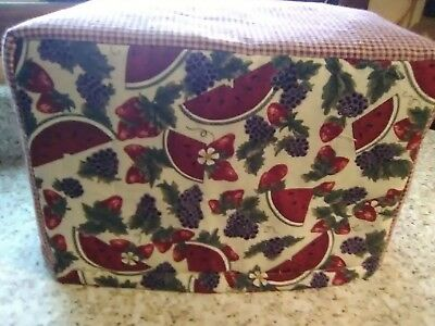 Grapes Watermelon Fruit Toaster Cover Homespun Fabric Quilted 2 Slice