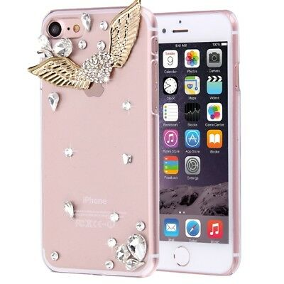Pochette de Protection Iphone 8 & 7 Coeur Pierres Strass Scintillant COQUE