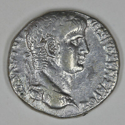 Nero AR Tetradrachm of Antioch, Syria. Regnal year 6, Caesarian year 108 = 59/60