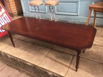 Shabby Chic Project Large Regency Style Mahogany Coffee Table