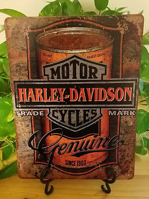 "Harley Davidson Motorcycles Metal Sign 10""x13"" - Man Cave Garage Bar Den Pub"