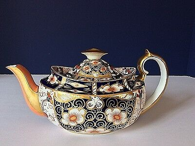 ROYAL CROWN DERBY ANTIQUE 1902 Traditional Imari #2451 MINI TEA COFFEE POT  LID
