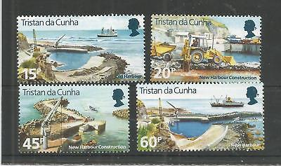 Tristan Da Cunha 1996 Construction Of New Harbour Sg,598-601 Um/m Nh Lot 8264A