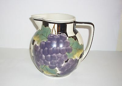 """Laura Ashley Large Hand Painted """"Grape Vine"""" Jug (Approx 7"""" Tall)."""