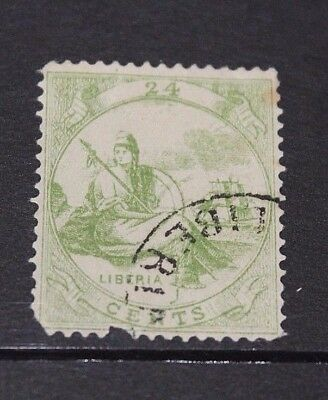 LIBERIA 1860 24c GREEN ISSUE  F/U
