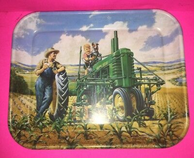 """John Deere """"Lunch Time"""" Tin Serving Tray 1942 Image Walter Haskell Hinton (1997)"""