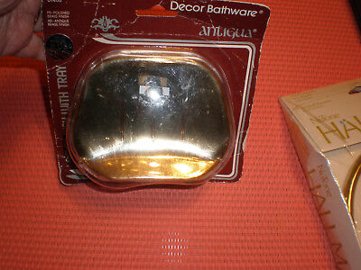 Antigua Polished Brass Wall Mount Soap Dish New in Box