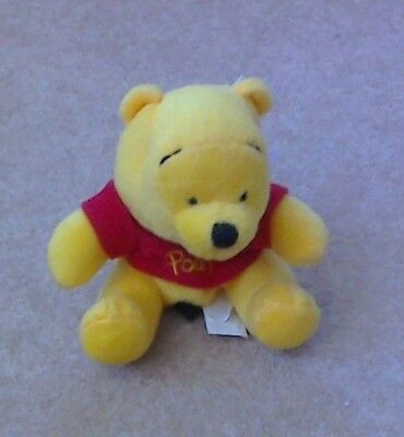 DISNEY WINNIE THE POOH PURSE/ KEY RING/BAG CHARM, 5 X 5 x 4 INCHES APPROXIMATELY