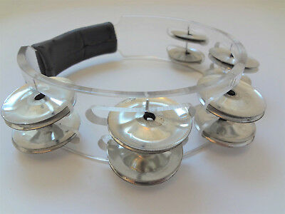 Vintage Two Row Clear Lucite Tambourine